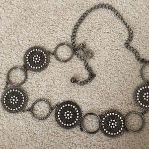 Candie's Silver Chain Belt